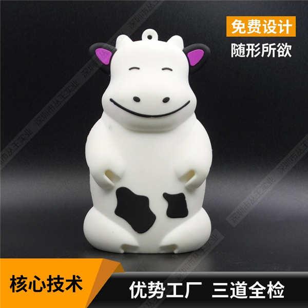 电脑音箱定制 奶牛动物造型电脑小音箱定制 pvc吉祥物音箱定制定制