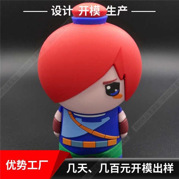 天津卡通充电宝定制 游戏人物造型充电宝 pvc软胶充电宝定制外形