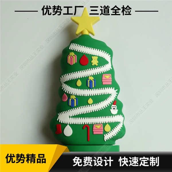 卡通充电宝定制 圣诞树造型卡通移动电源 创意软胶卡通充电宝定制外形