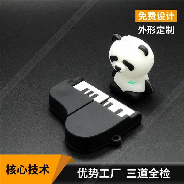 软胶硅胶U盘定制  pvc软胶U盘工厂 钢琴卡通优盘厂家