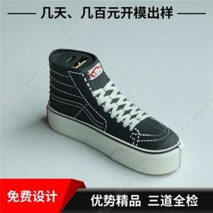 pvc软胶充电宝定制 鞋子造型便携式充电宝 pvc软胶充电宝定制外形