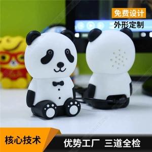 电脑音箱定制 PVC软胶熊猫造型电脑音箱 时尚电脑音箱设计定制