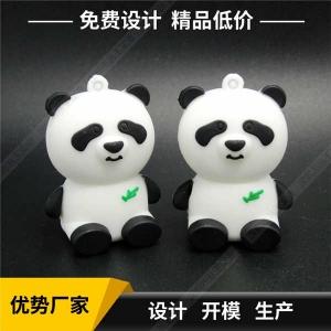 PVC软胶U盘定制 创意熊猫造型U盘定制 高速USB3.0软胶U盘