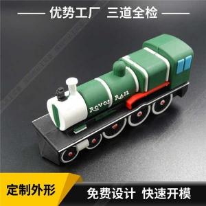 软胶硅胶U盘定制 创意PVCU盘厂家 绿皮火车卡通U盘