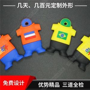 卡通U盘32gb 活动礼品优盘工厂 服装软胶创意U盘定制