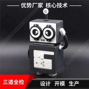 创意充电宝工厂 广告礼品移动电源定制 机械人软胶卡通充电宝厂家
